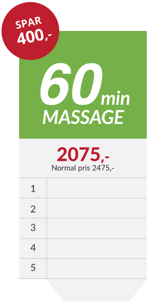 5x massage klippekort