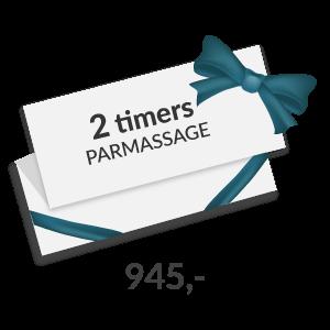 2 timers parmassage gavekort